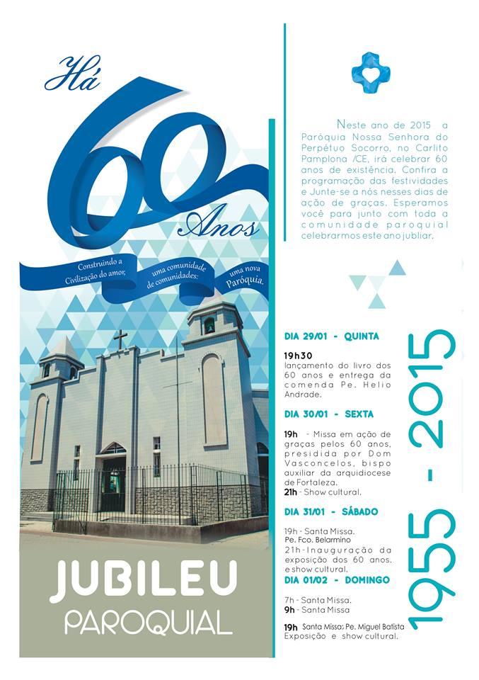 convite 60 anos paróquia