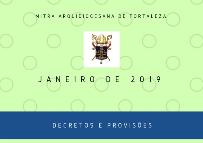 Nomeações e provisões – Janeiro 2019