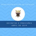 decretos e provisões