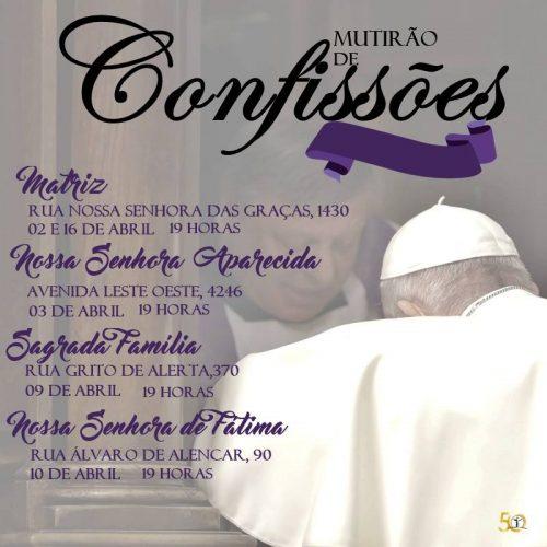 Mutirão de  Confissões Cristo Redentor 2019