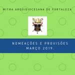 NOMEAÇÕES MARÇO DE 2019